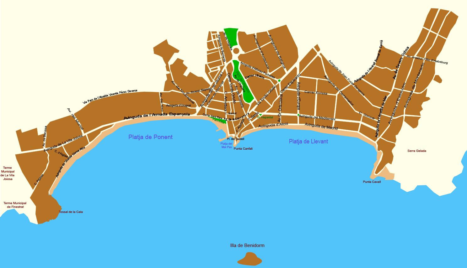 Calles de Benidorm 2006
