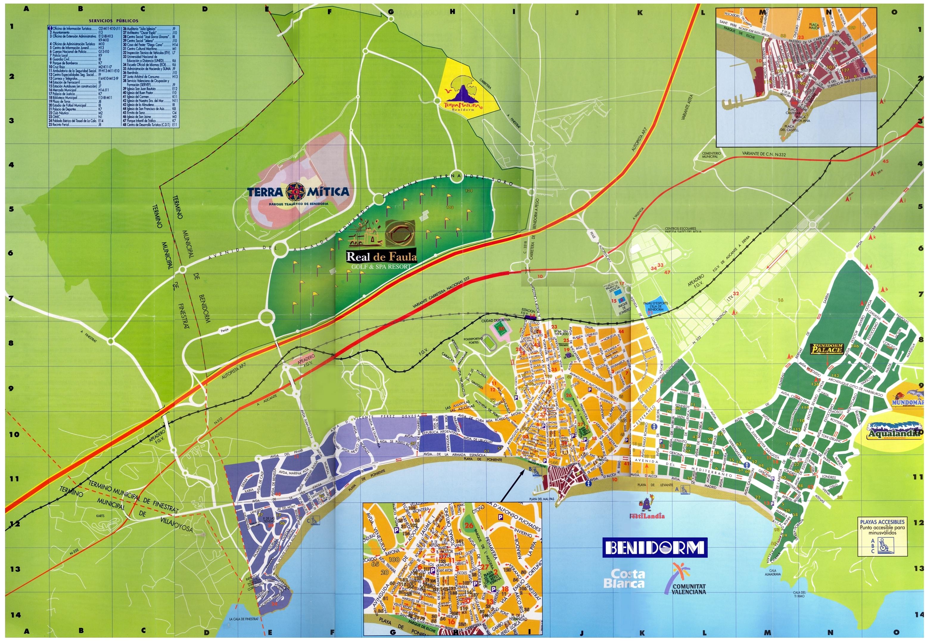 Mapa turístico de Benidorm