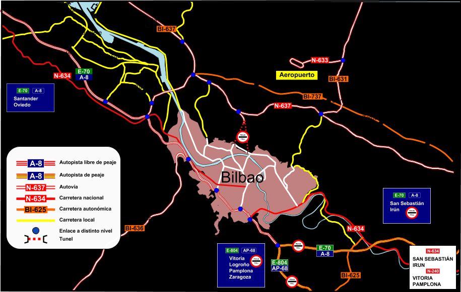 Bilbao access map 2010