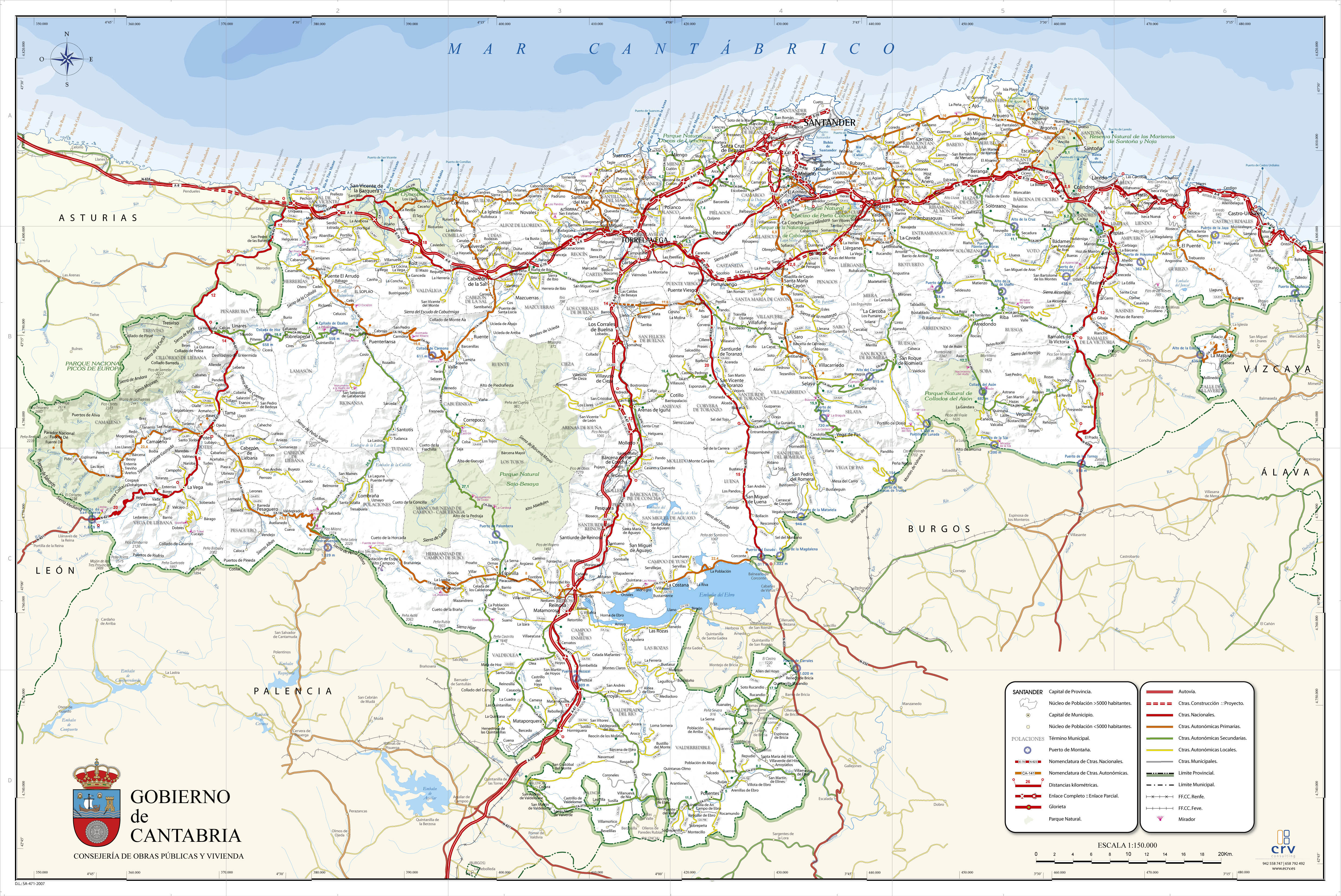 Cantabria map