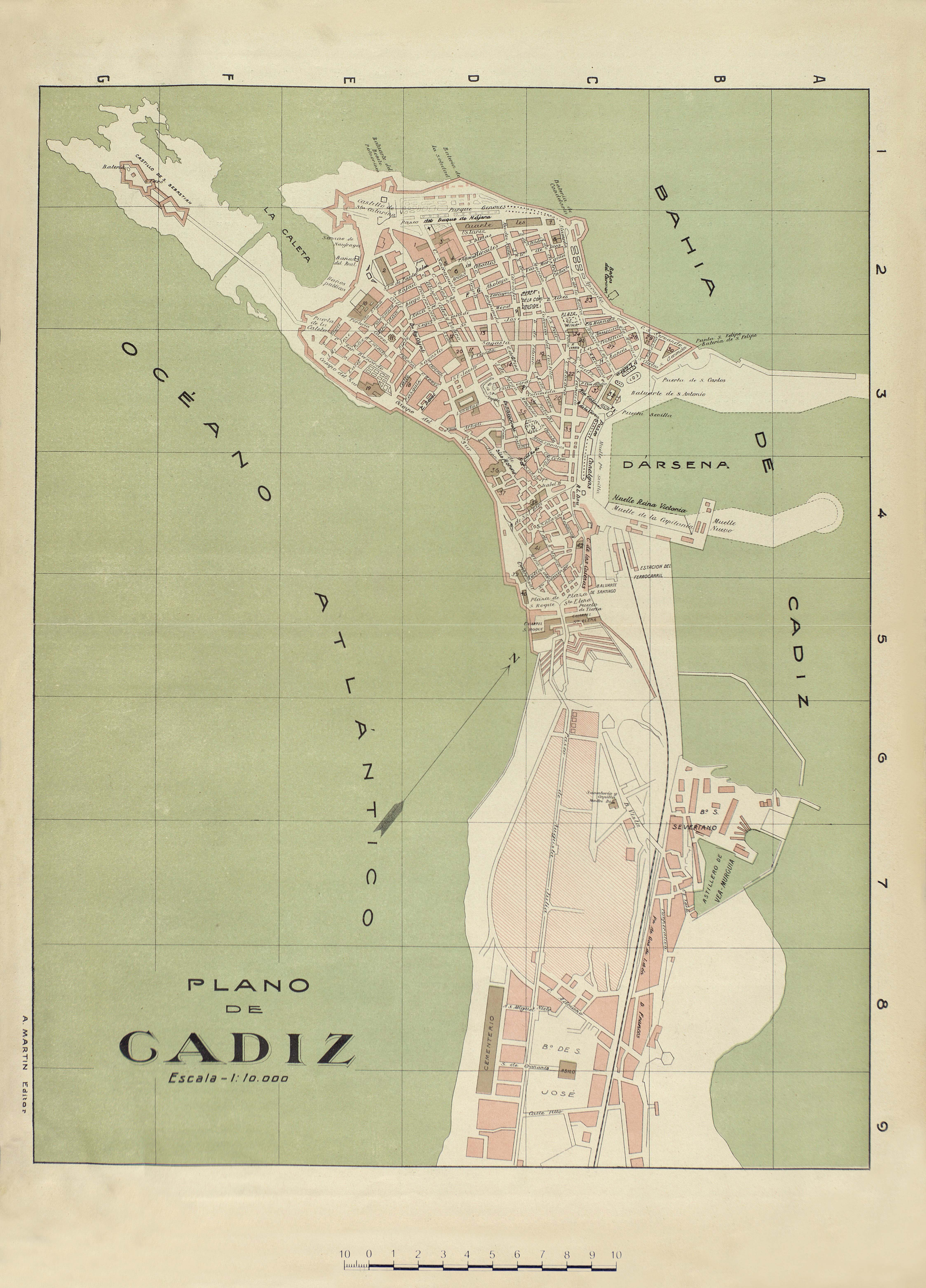 Map of Cádiz