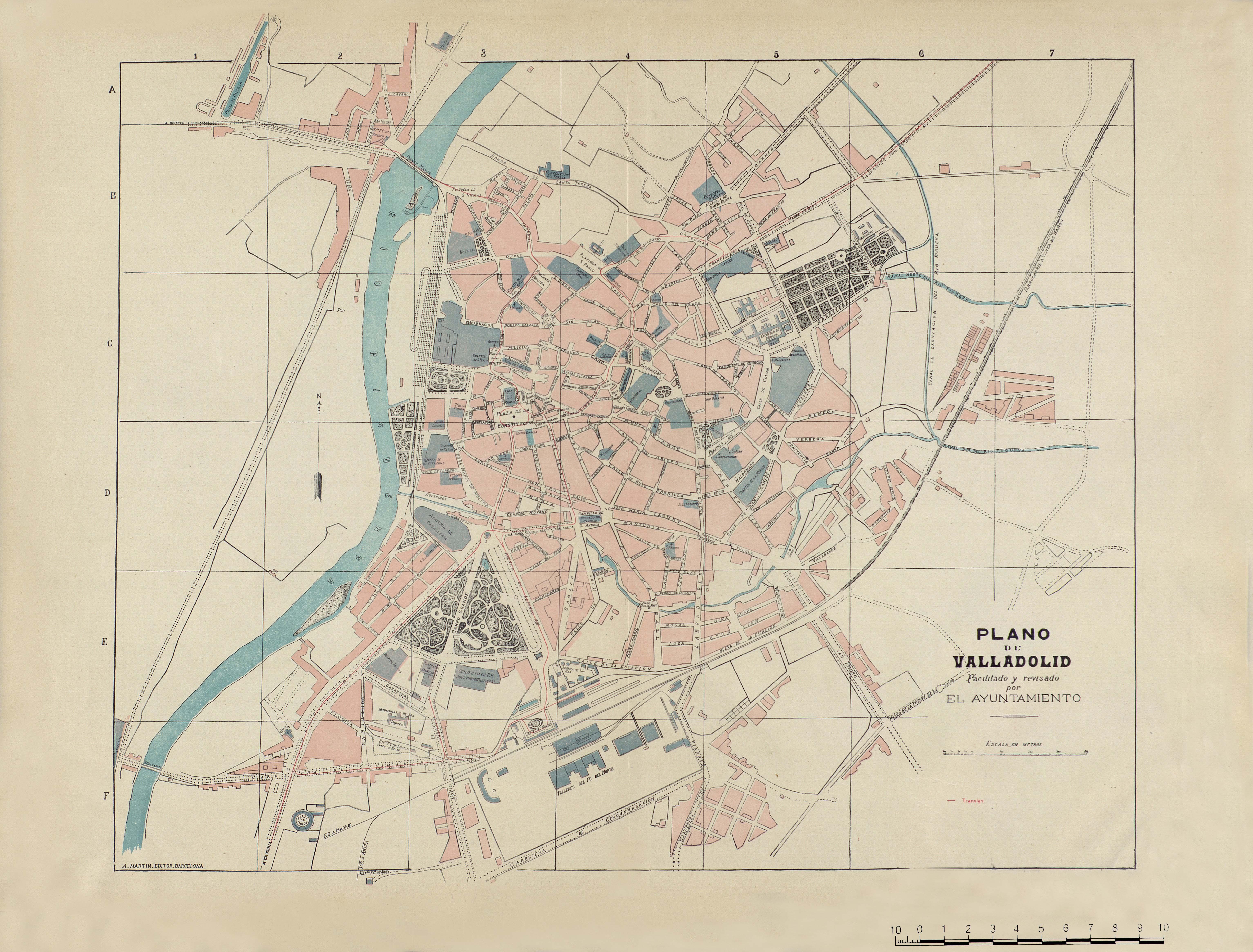 Plano de Valladolid