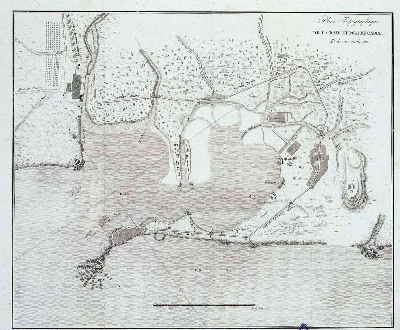 Cadix et ses environs 1820