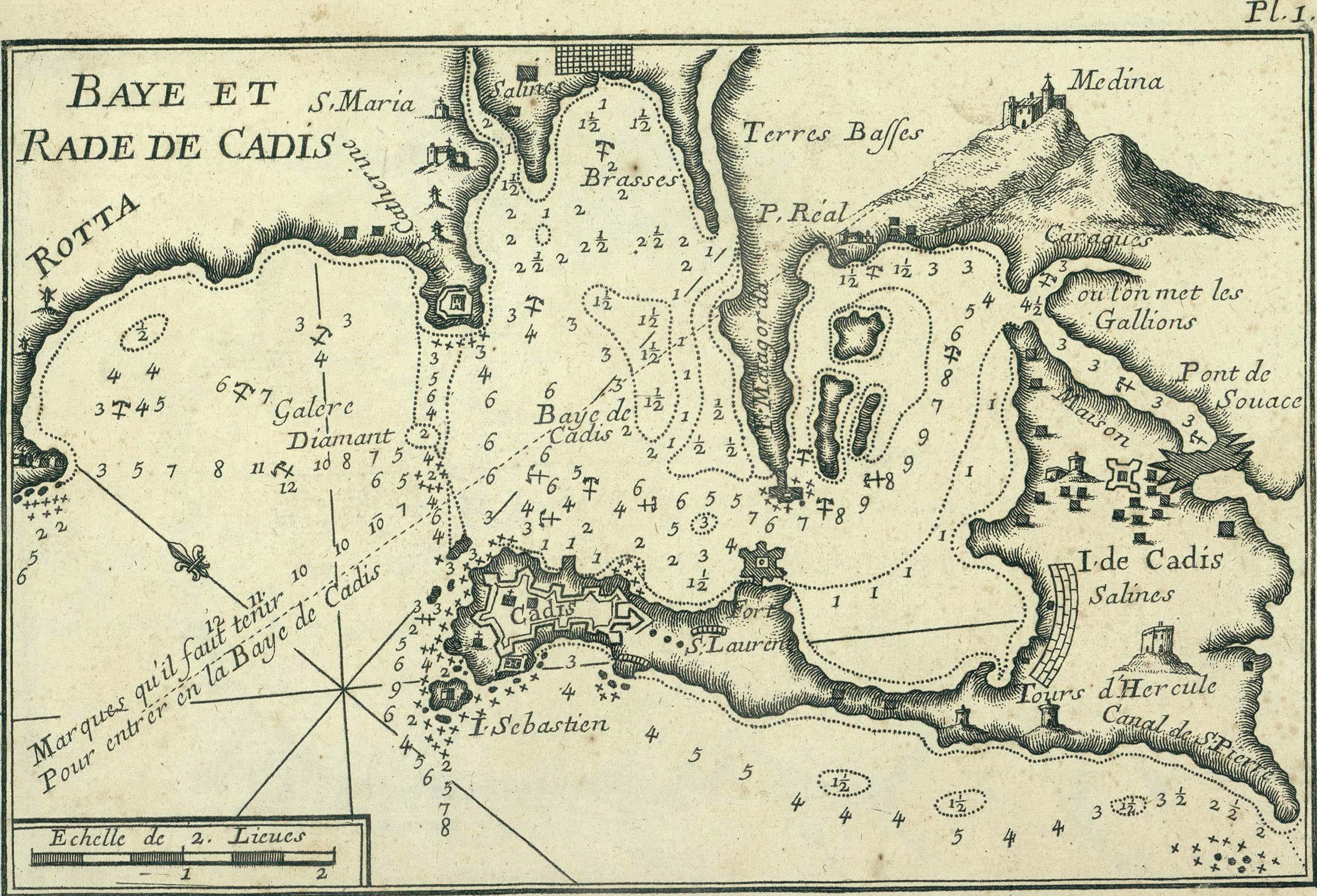 Baye et rade de Cadis 1764