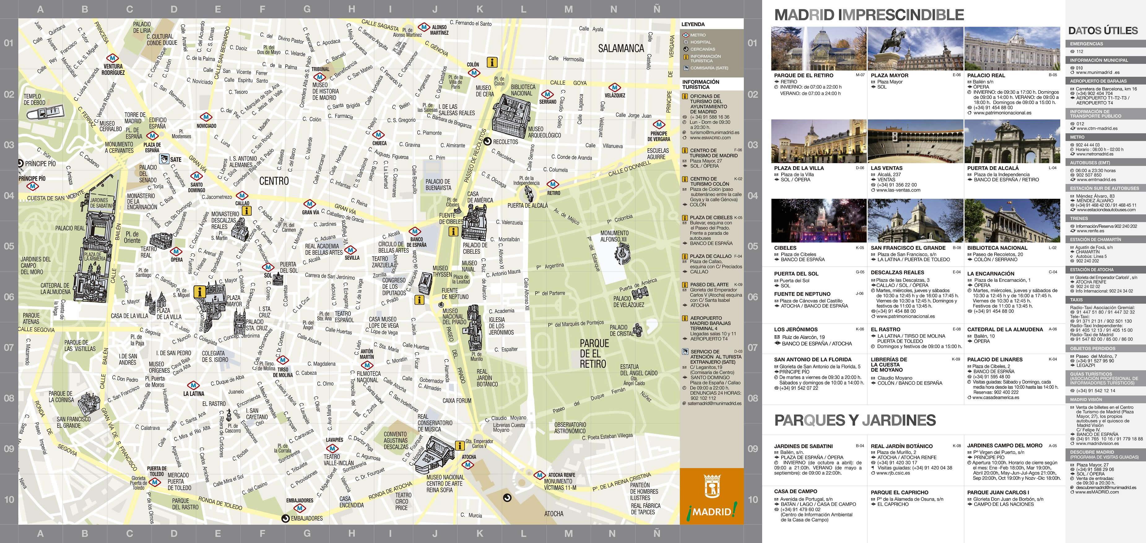 Mapa turístico de Madrid 2009