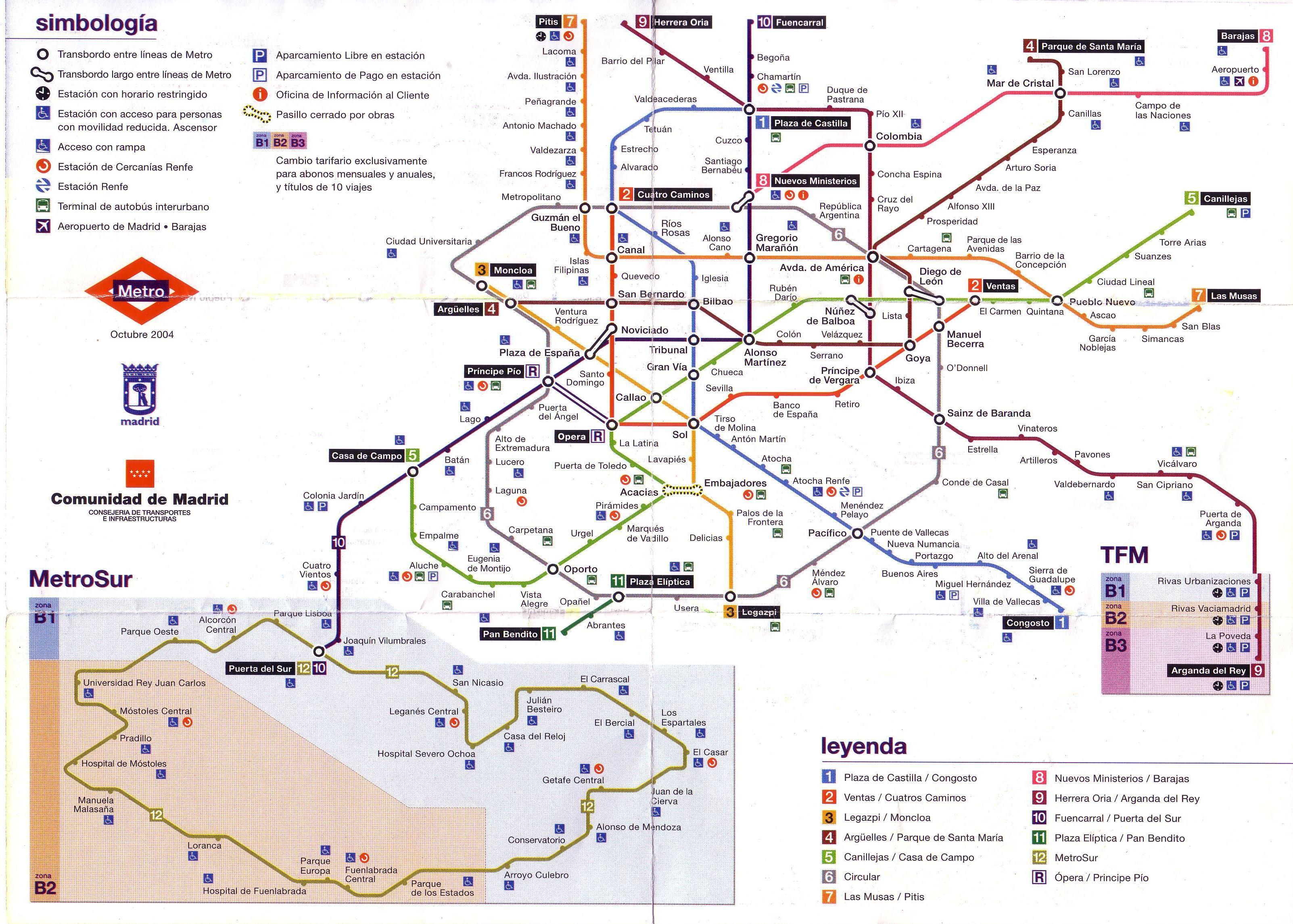 Madrid metro 2004