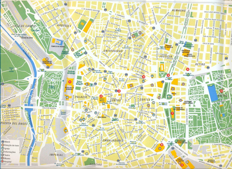 Centro De Madrid Mapa.Mapa De Madrid Mapa Owje Com