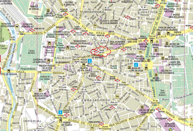 Centro De Madrid Mapa.Mapa De Centro De Madrid Mapa Owje Com