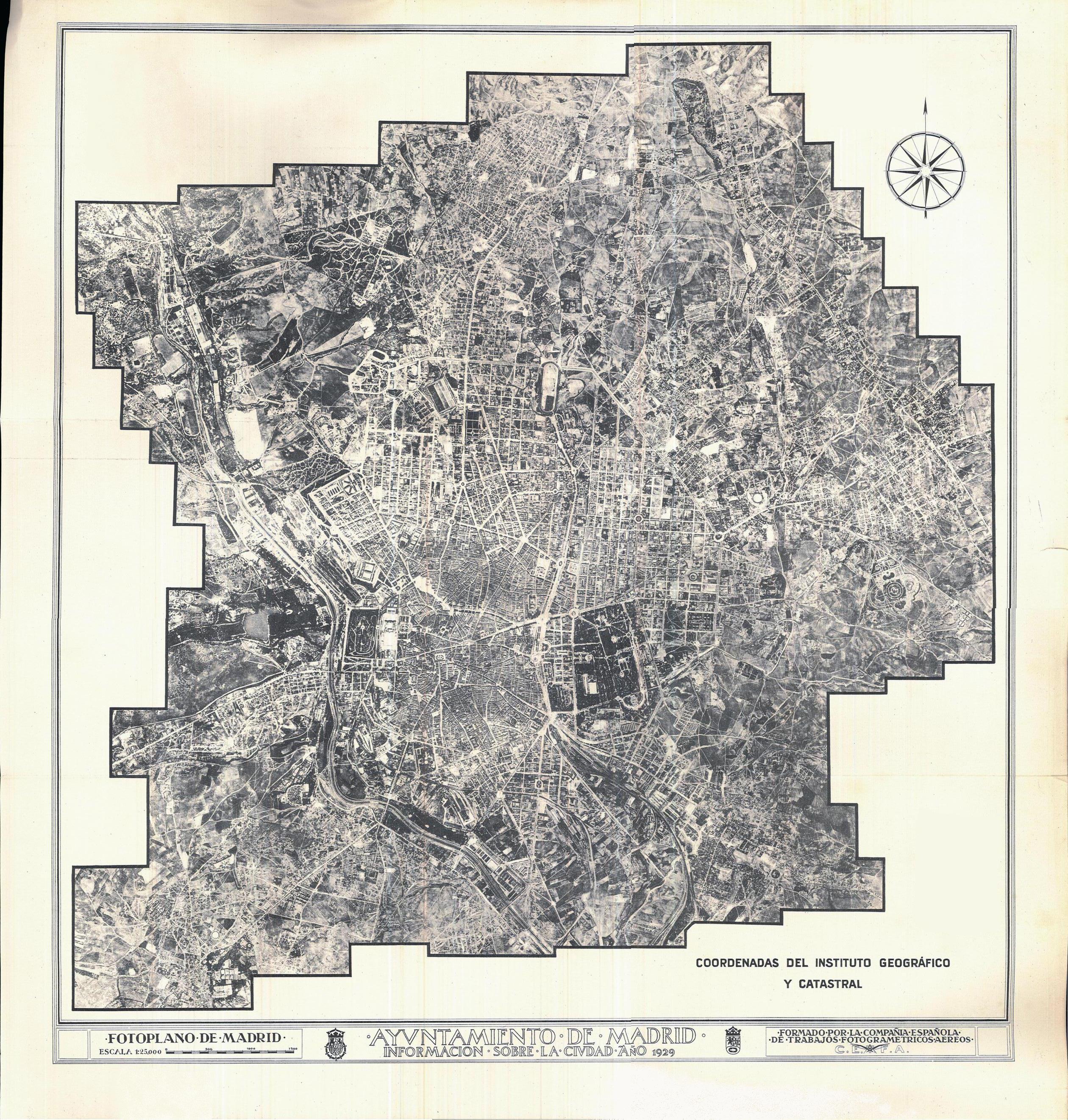 Fotoplano de Madrid 1929