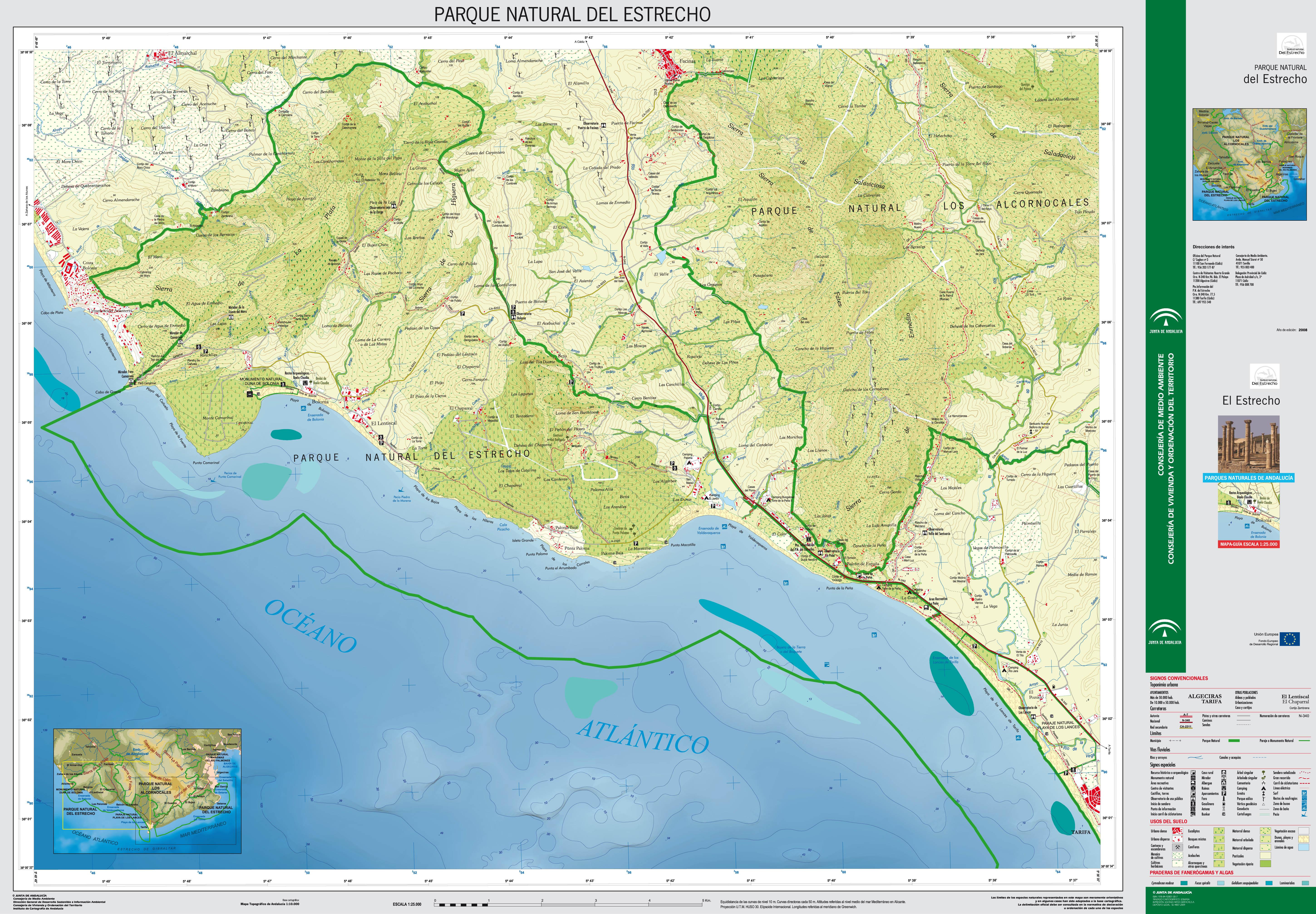Zona occidental Parque Natural del Estrecho 2008