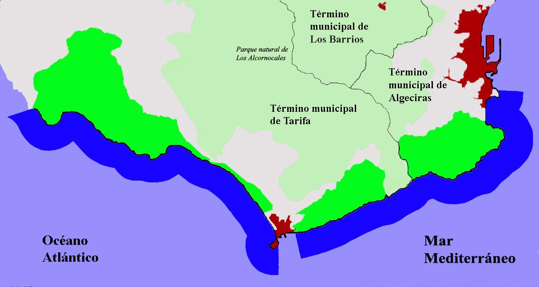 Parque Natural del Estrecho ámbito terrestre y marítimo 2008