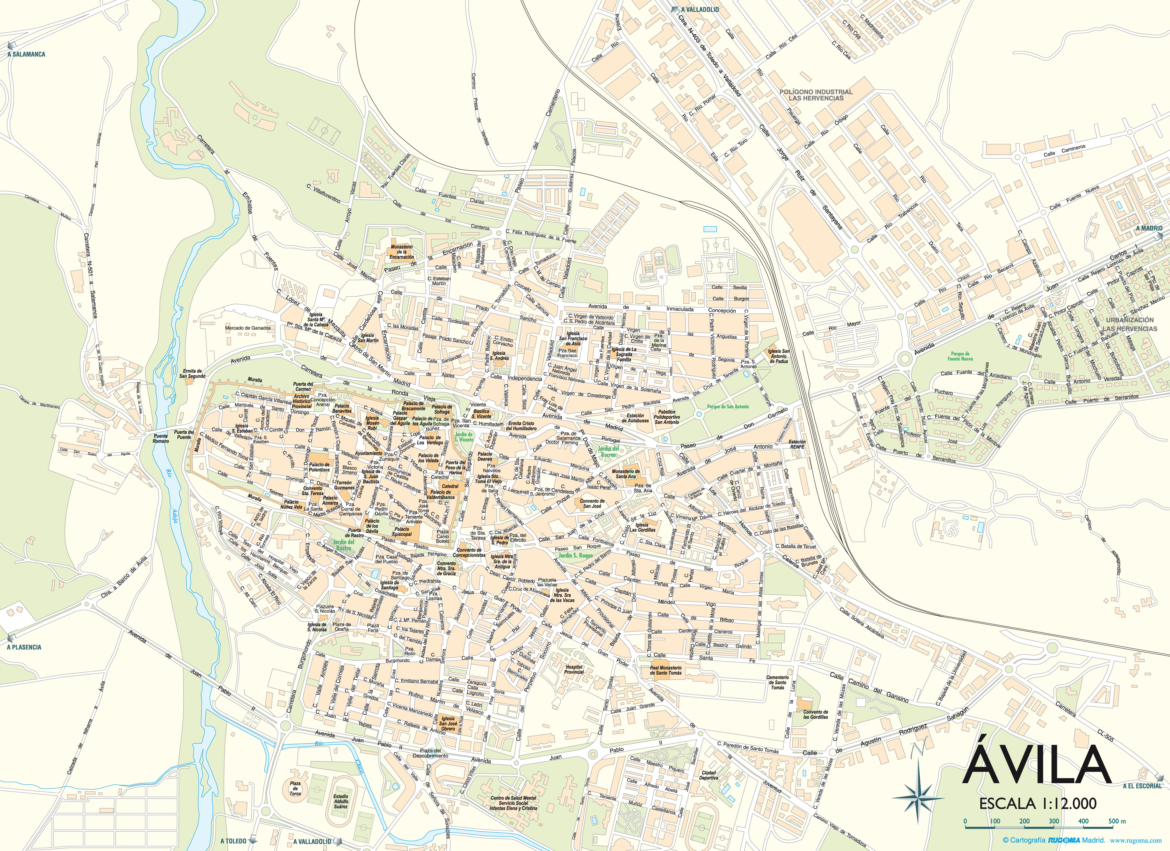 Mapa de Ávila