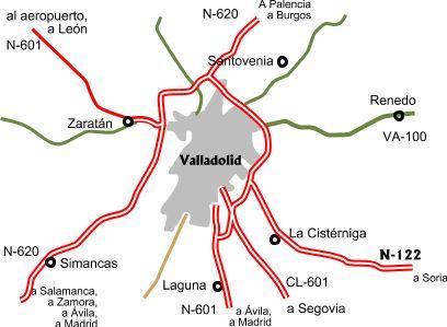 Accesos por carretera a Valladolid 2007
