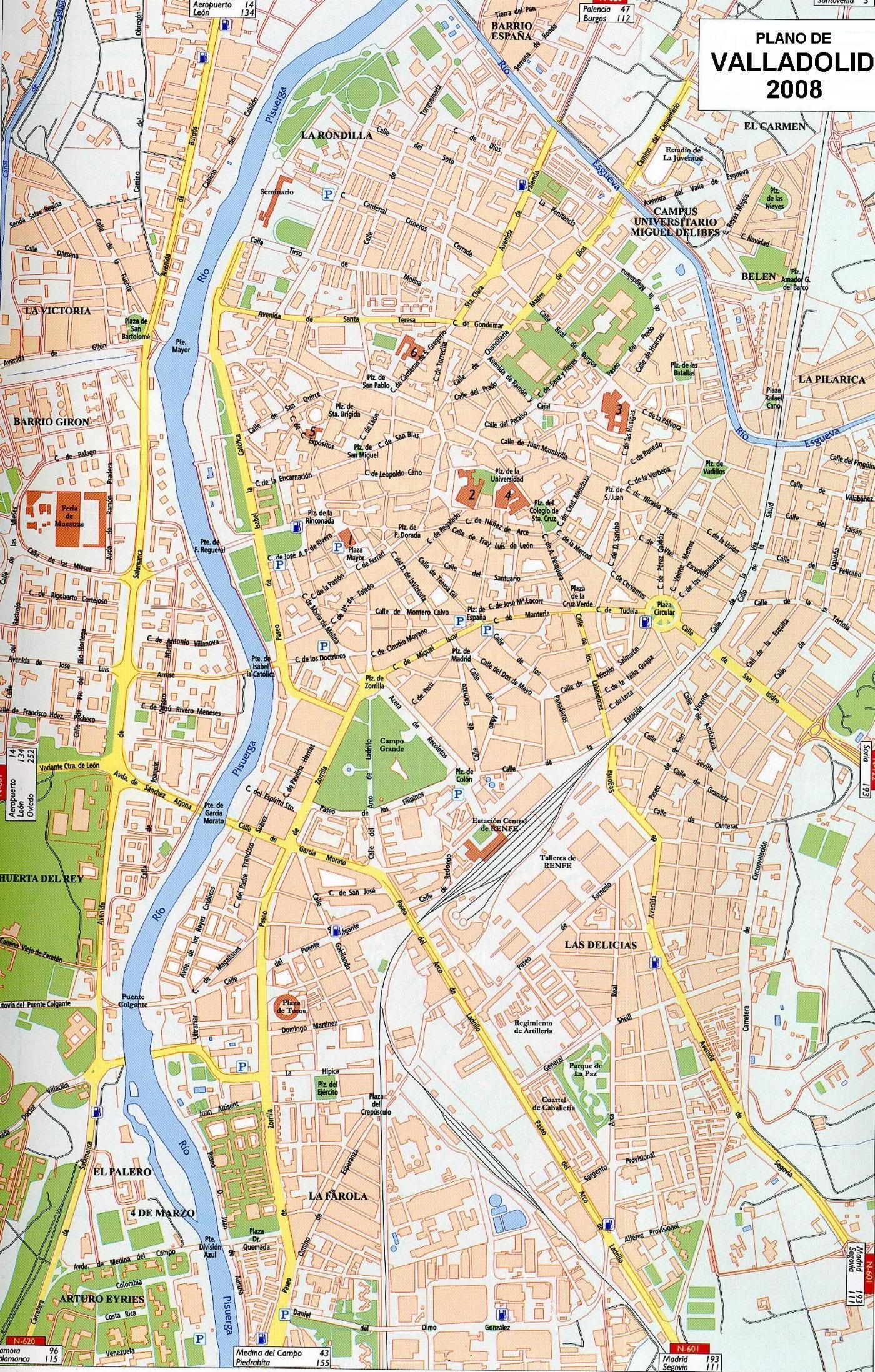 Mapa de Valladolid 2008