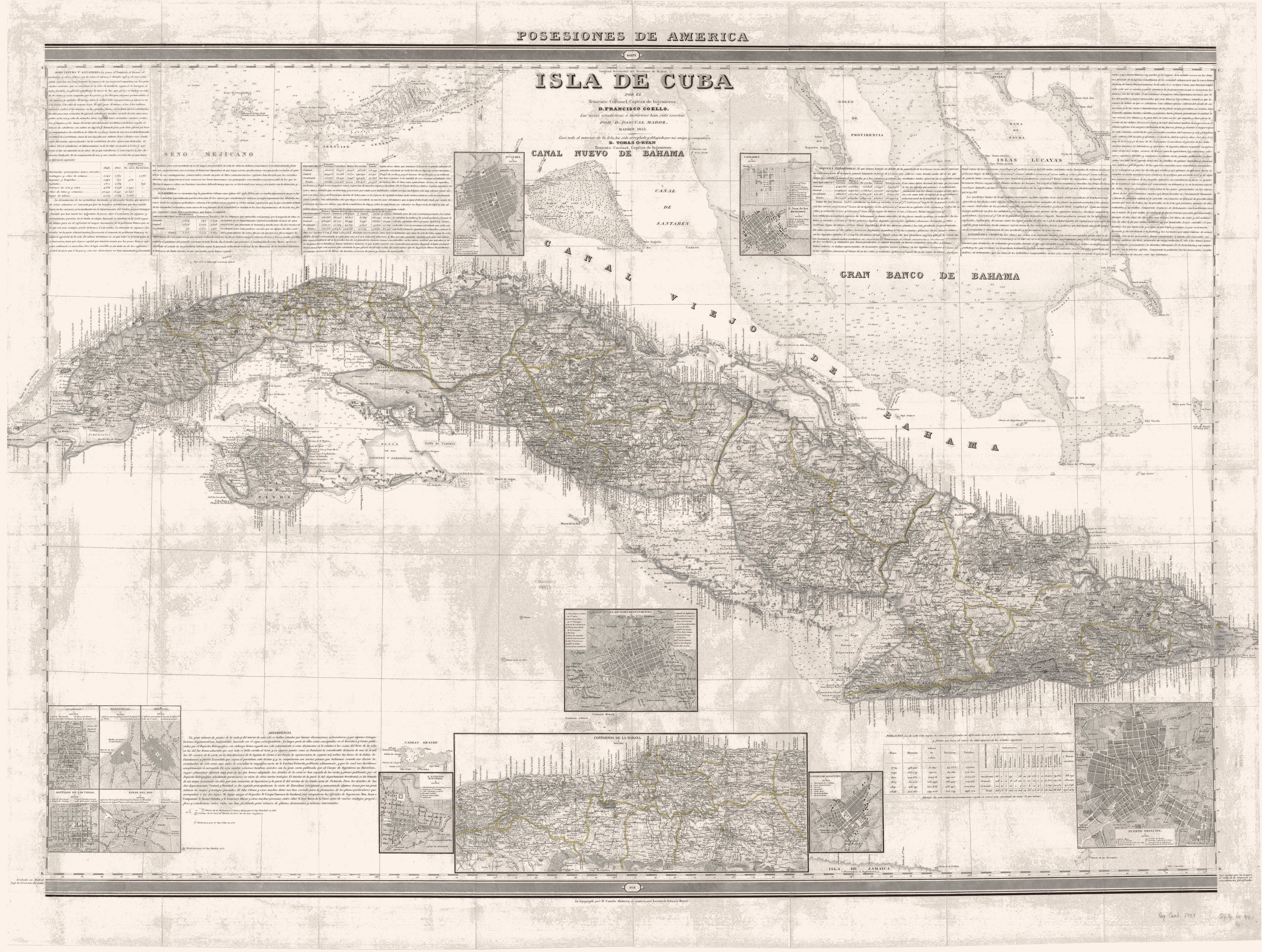 Isla de Cuba 1853