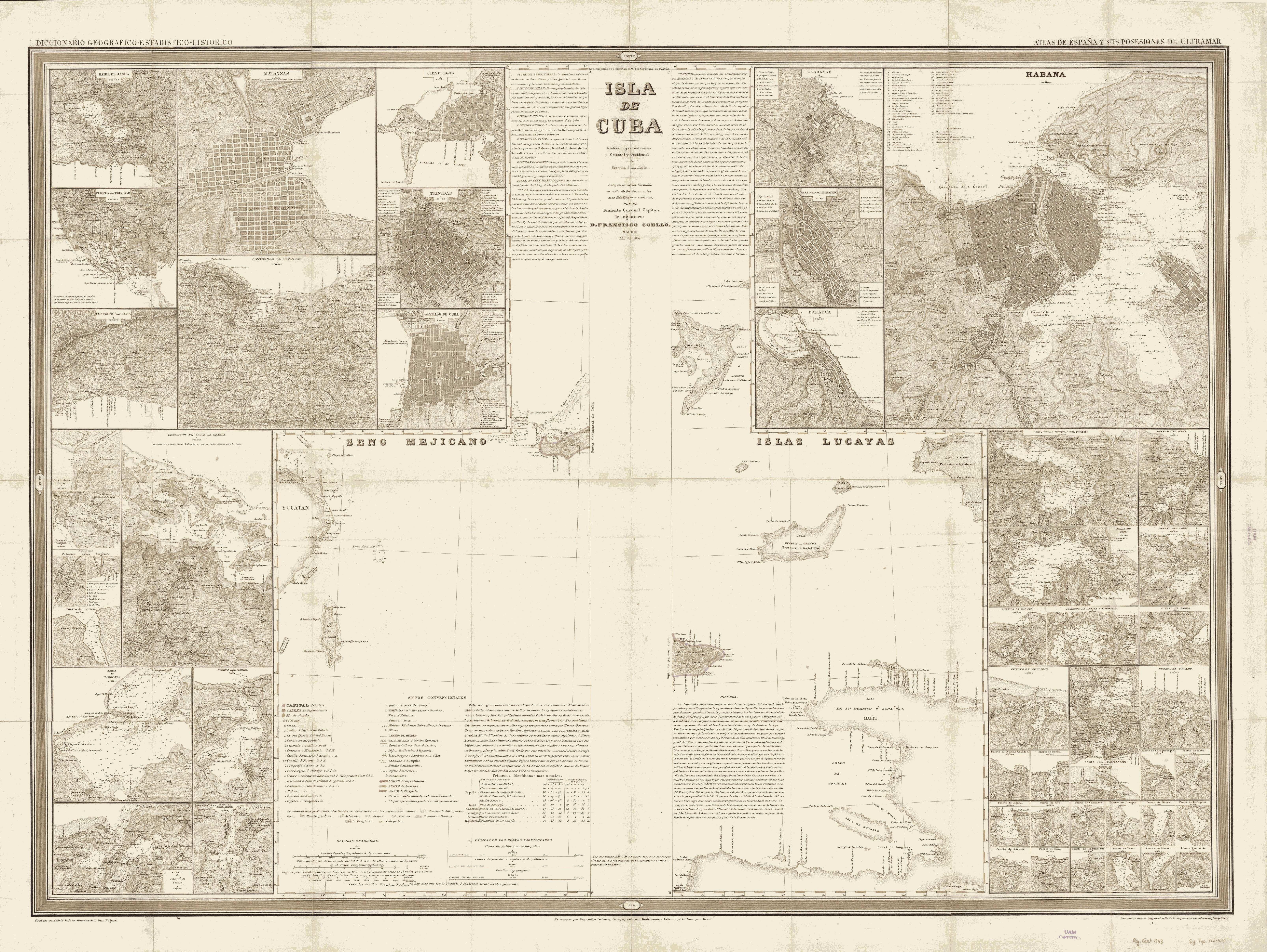 Isla de Cuba 1851