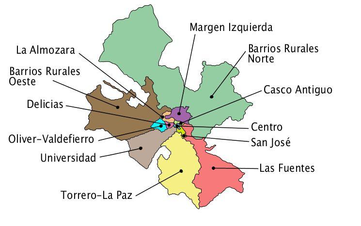 Distritos de Zaragoza 2006