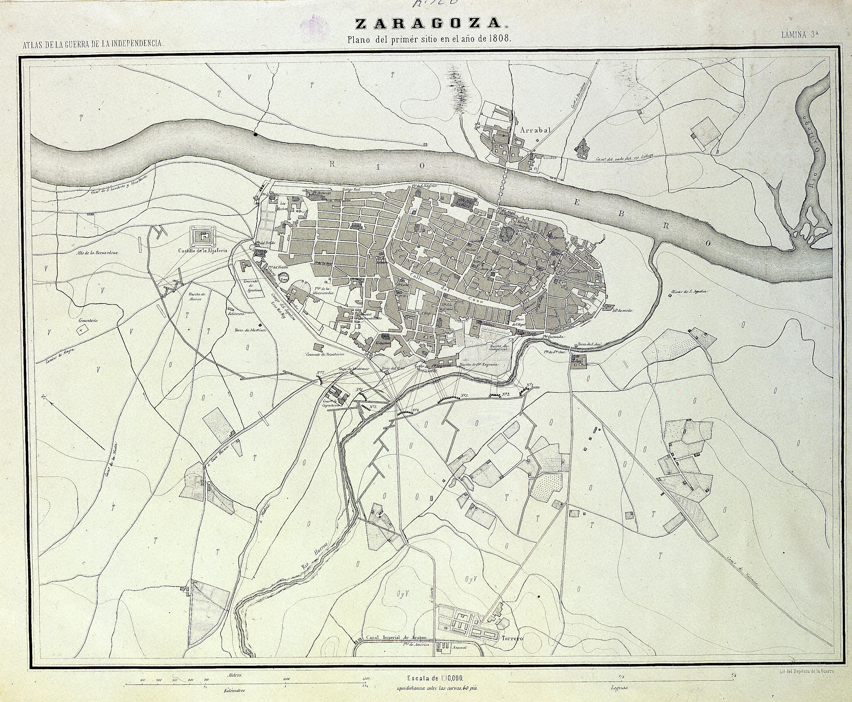 Primer sitio de Zaragoza en 1808