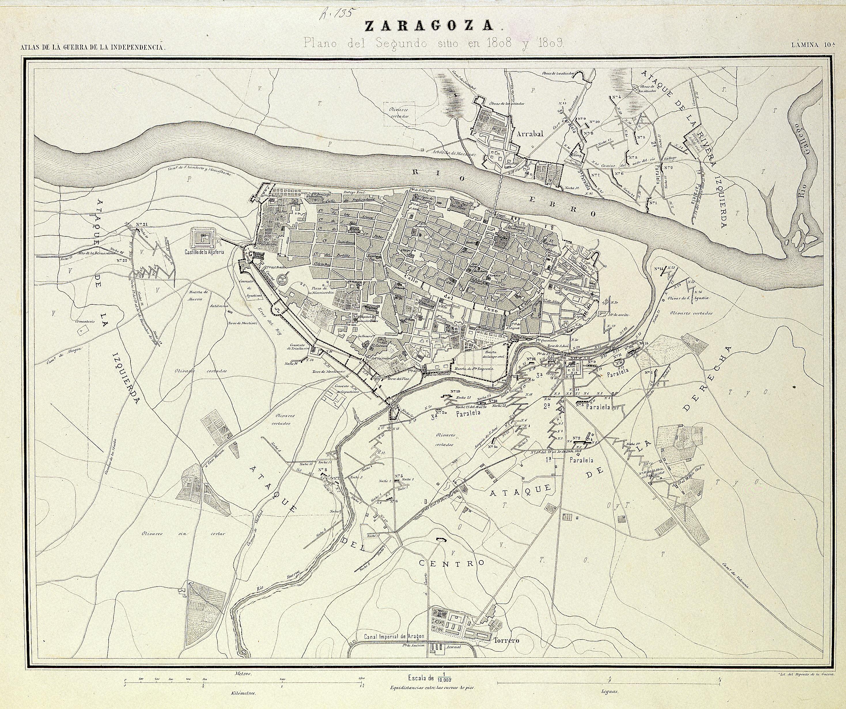 Segundo sitio de Zaragoza en 1808
