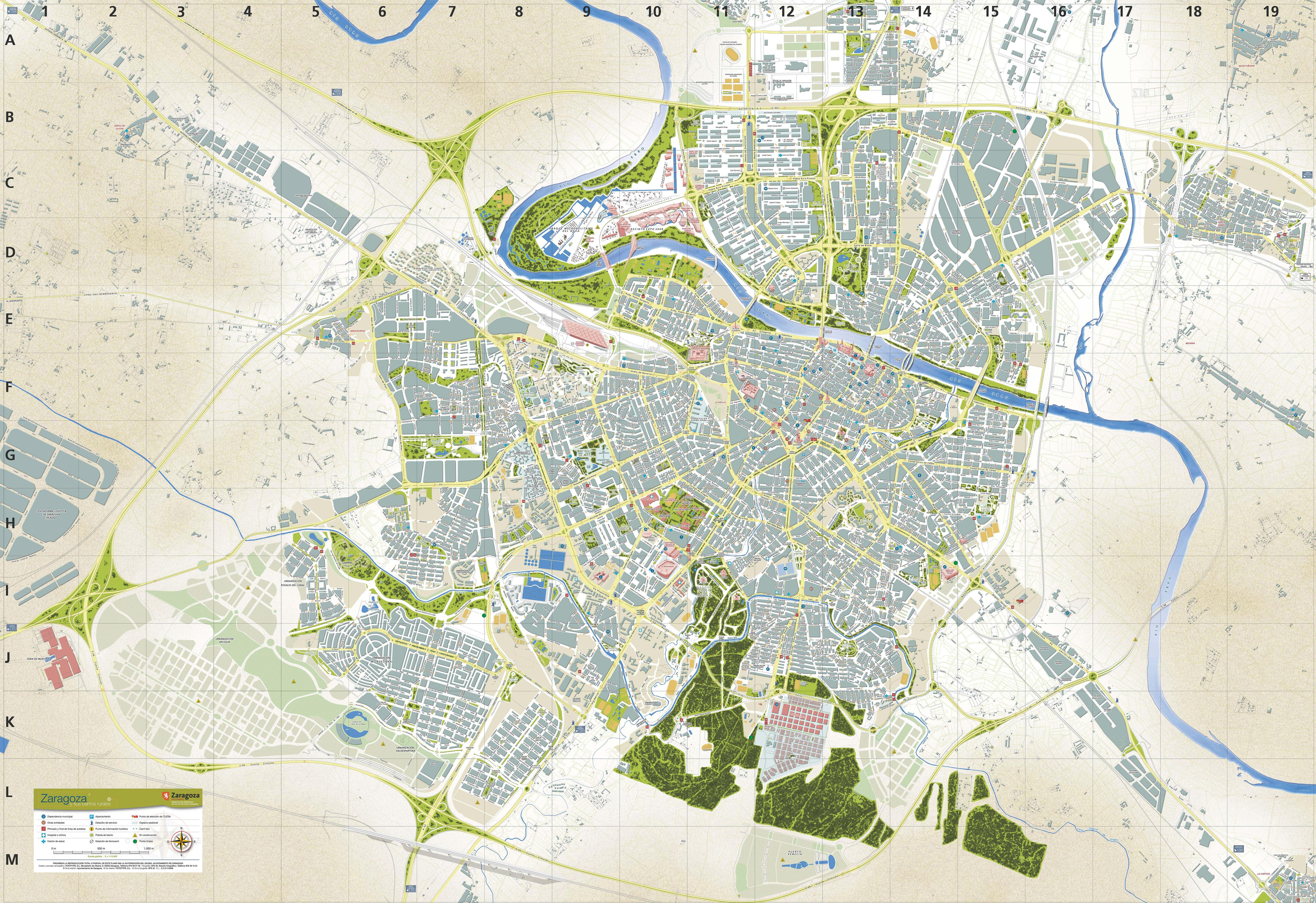 Mapa turístico de Zaragoza 2006