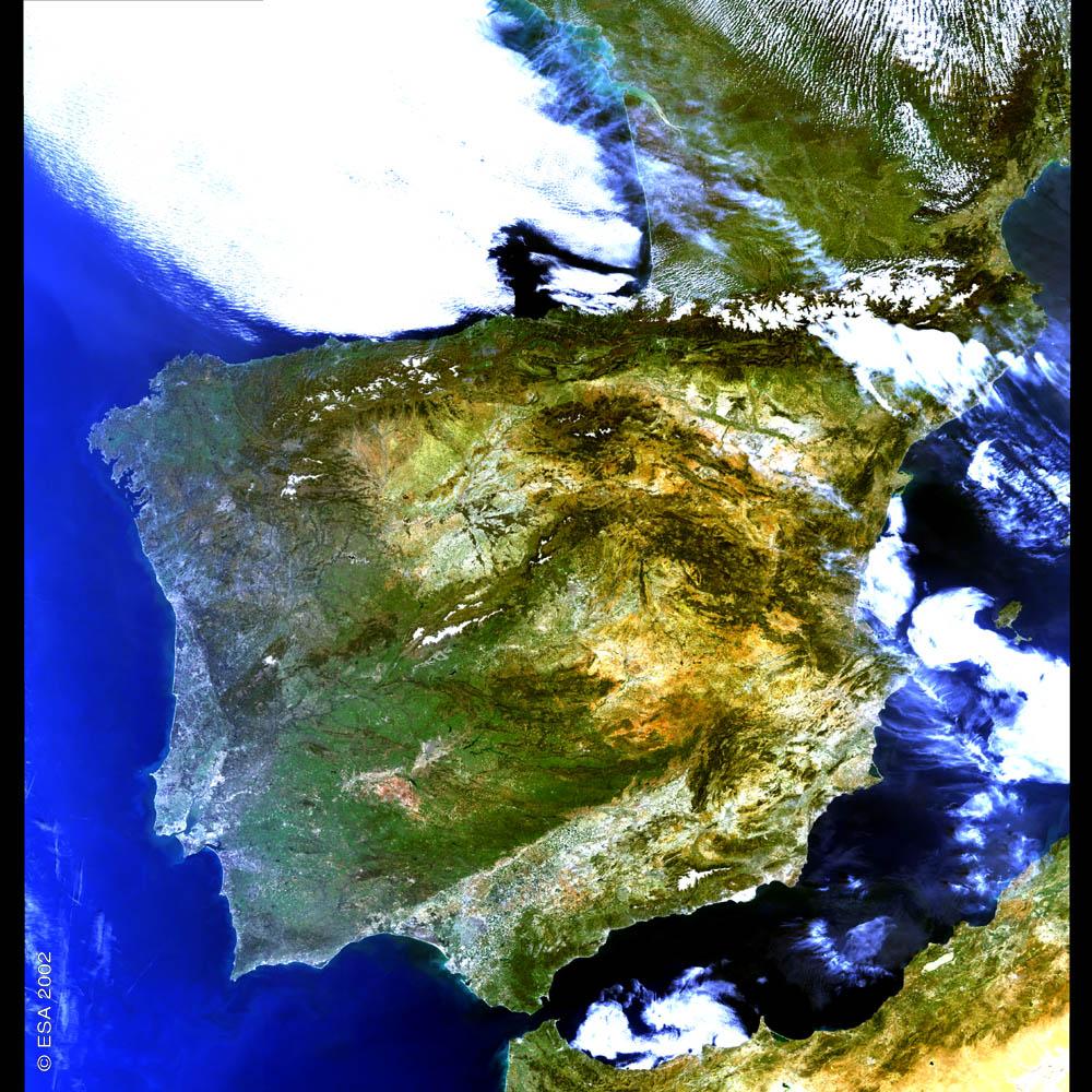 Imagen satelital de España 2002