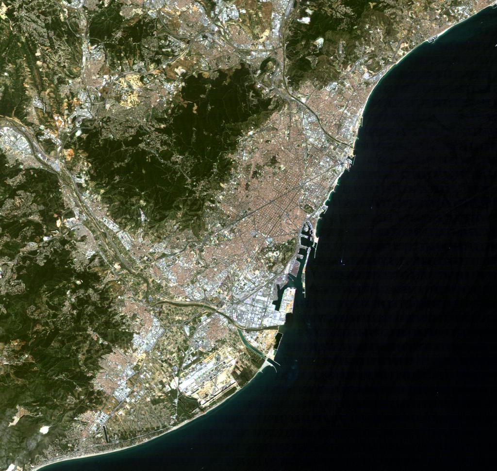 Satellite image of Barcelona 2004