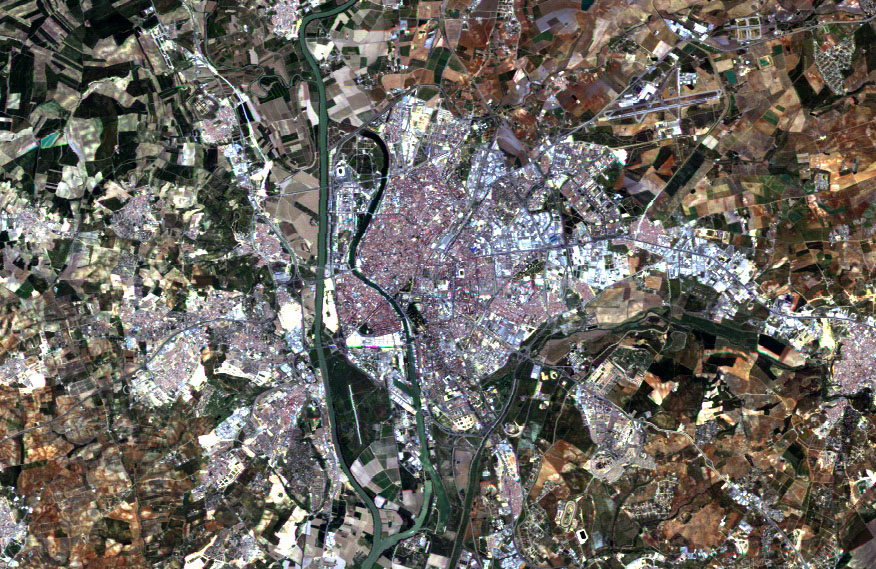 Satellite image of Seville 2004