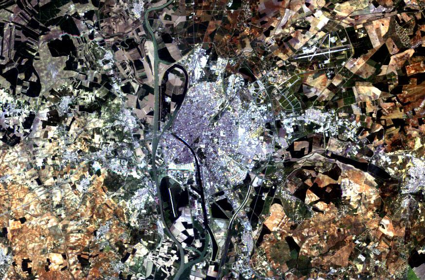 Imagen satelital de Sevilla 1984