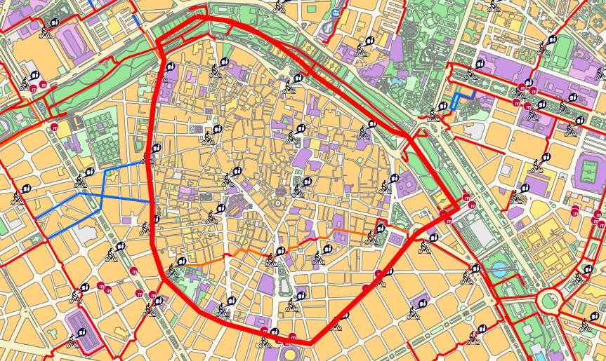 District of Ciutat Vella map