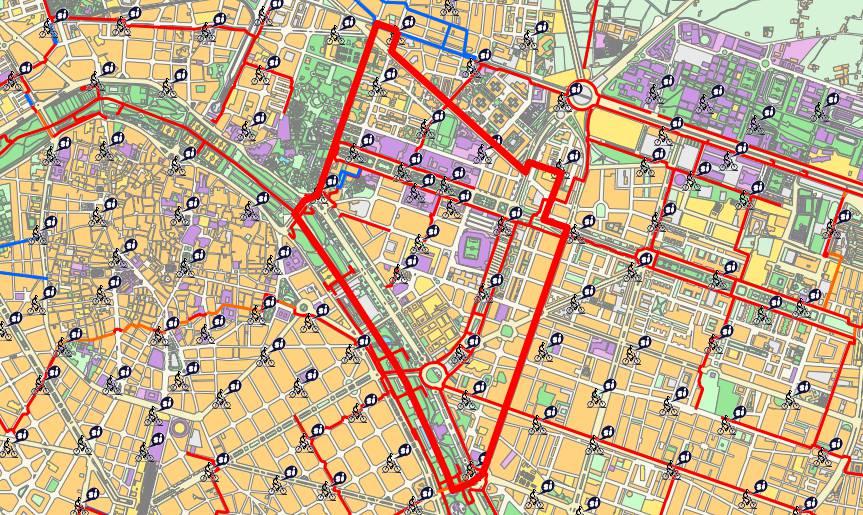Mapa del distrito de el Pla del Real