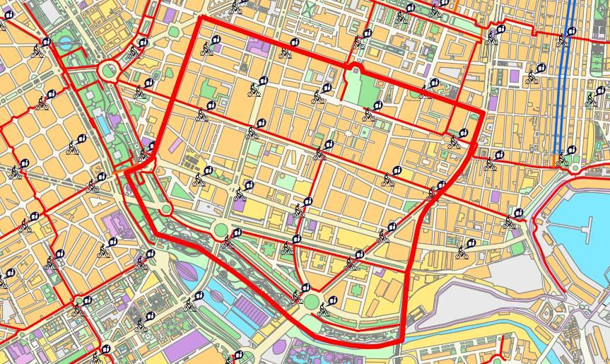 Mapa del distrito de Camins al Grau