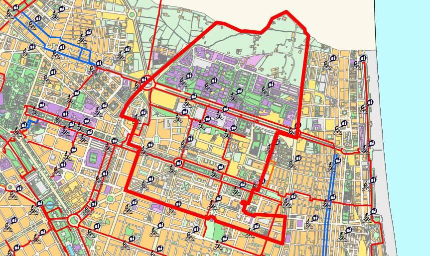 Mapa del distrito de Algirós