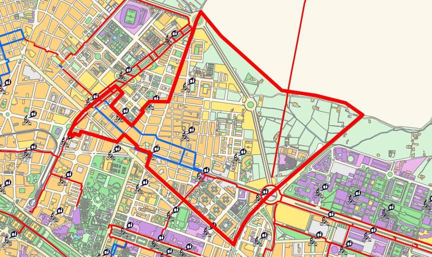 Mapa del distrito de Benimaclet