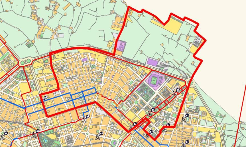 Mapa del distrito de Rascanya