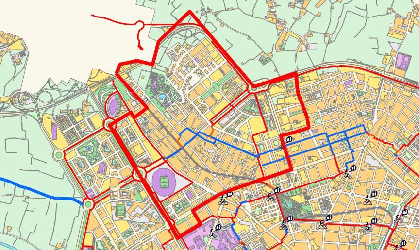 Mapa del distrito de Benicalap