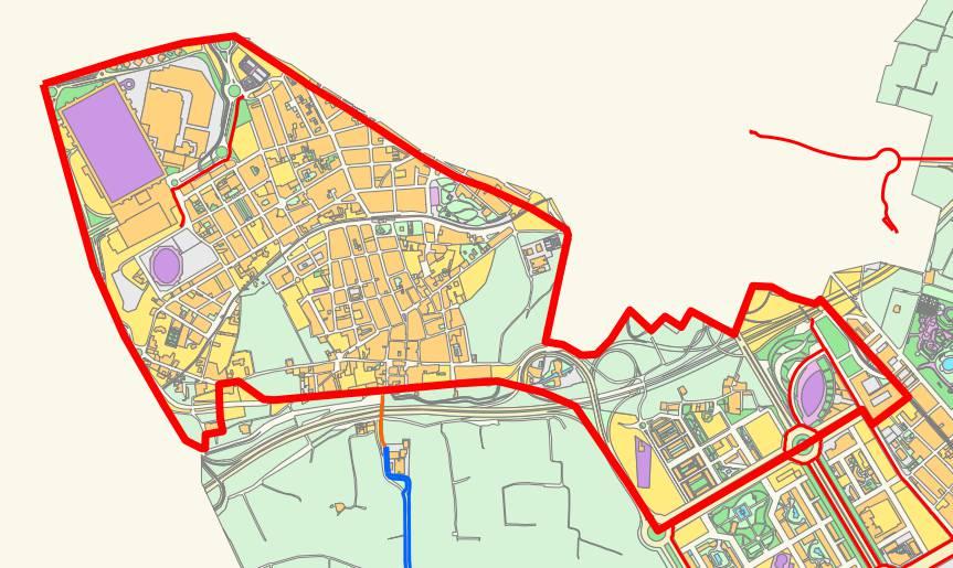 Mapa del distrito de Poblats de l'Oest