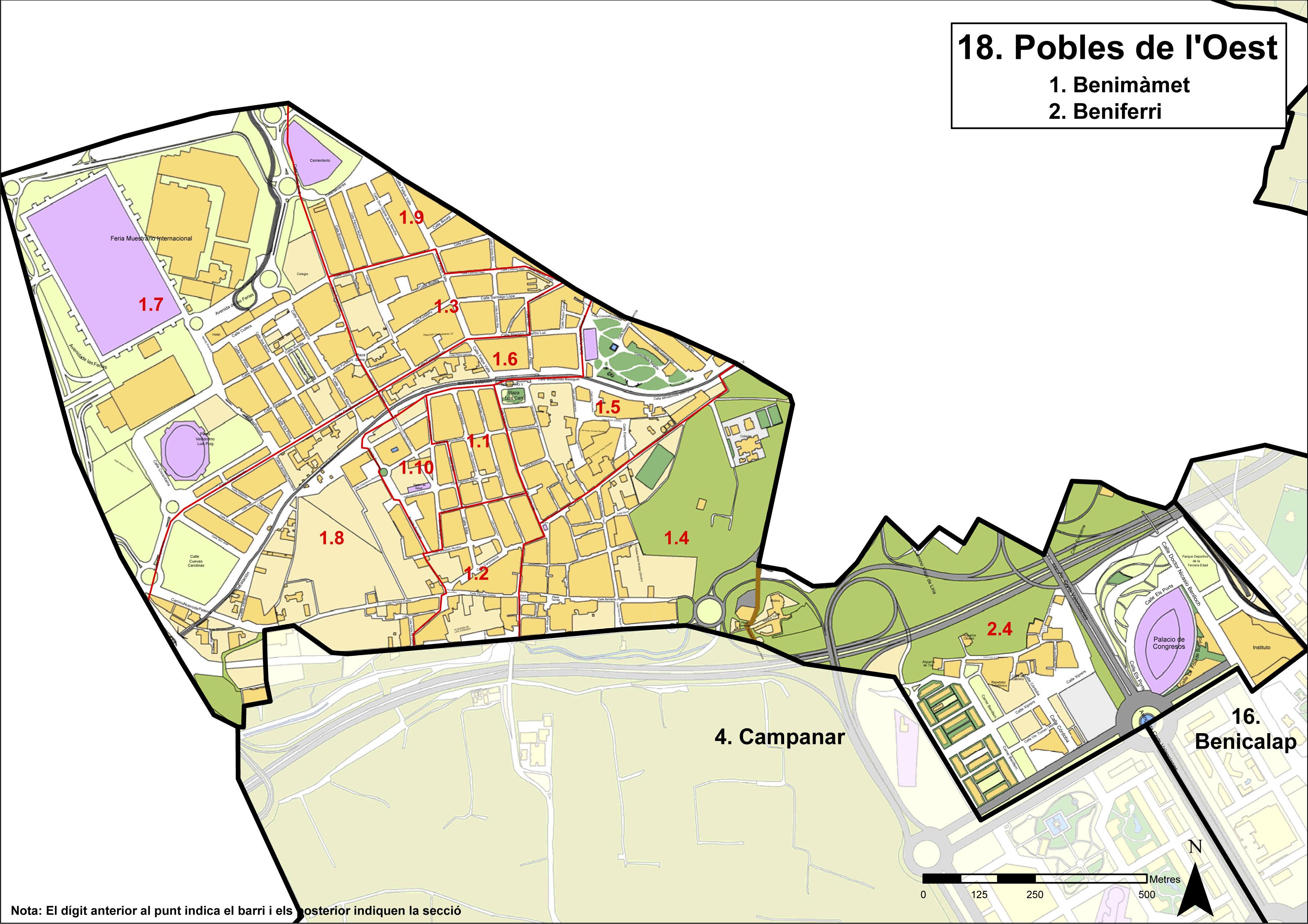 Poblats de l'Oest district, Valencia