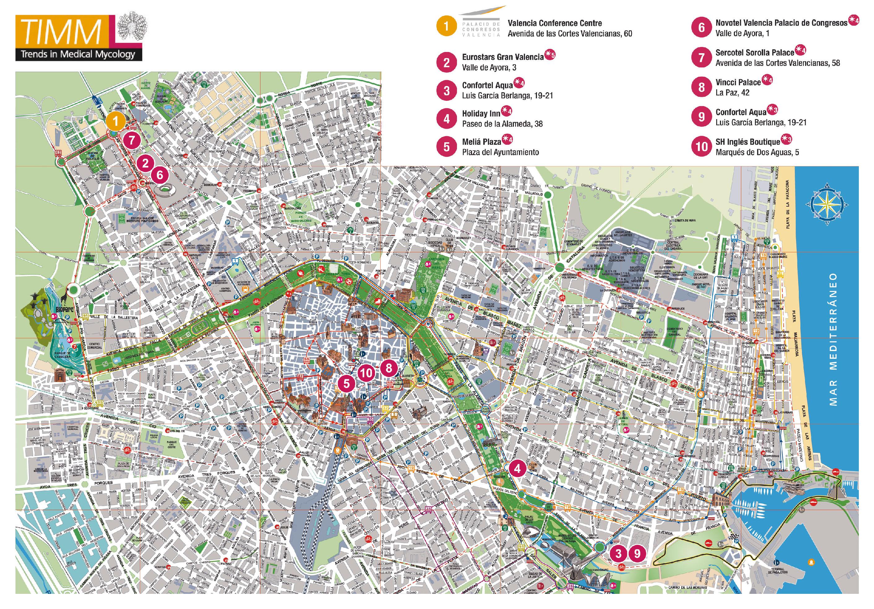 Map of Valencia 2011
