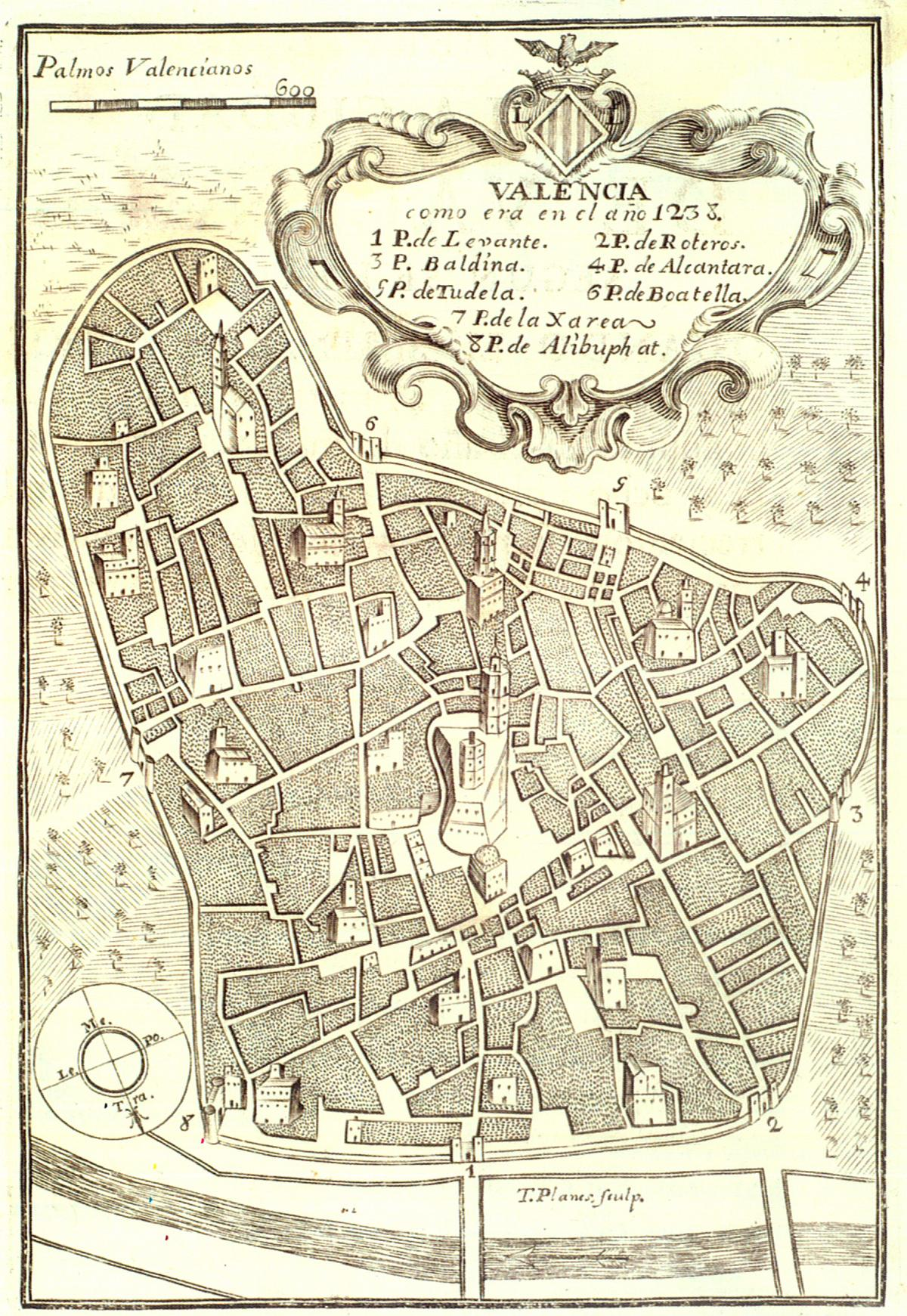 Valencia as it was in 1238