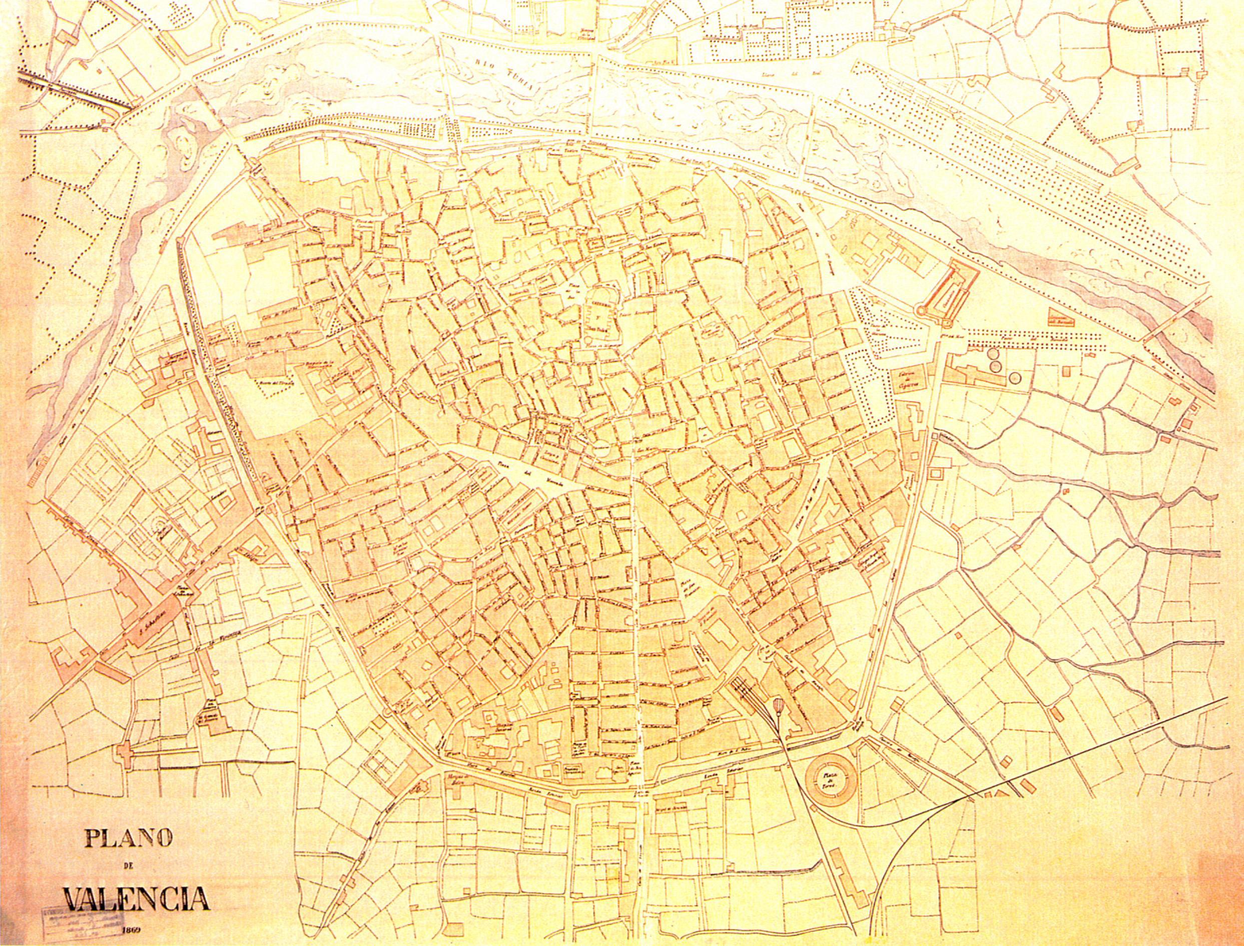 Plano de Valencia 1869