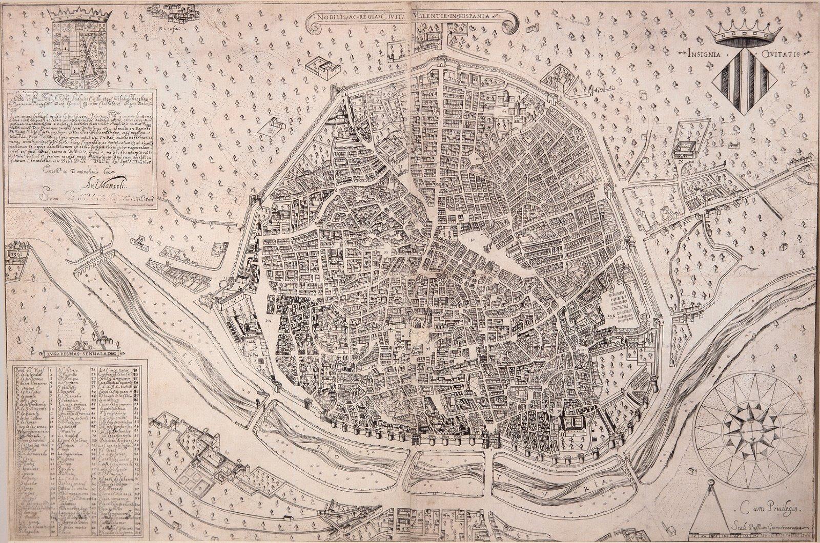 Nobilis ac regia civitas Valentie in Hispania 1608