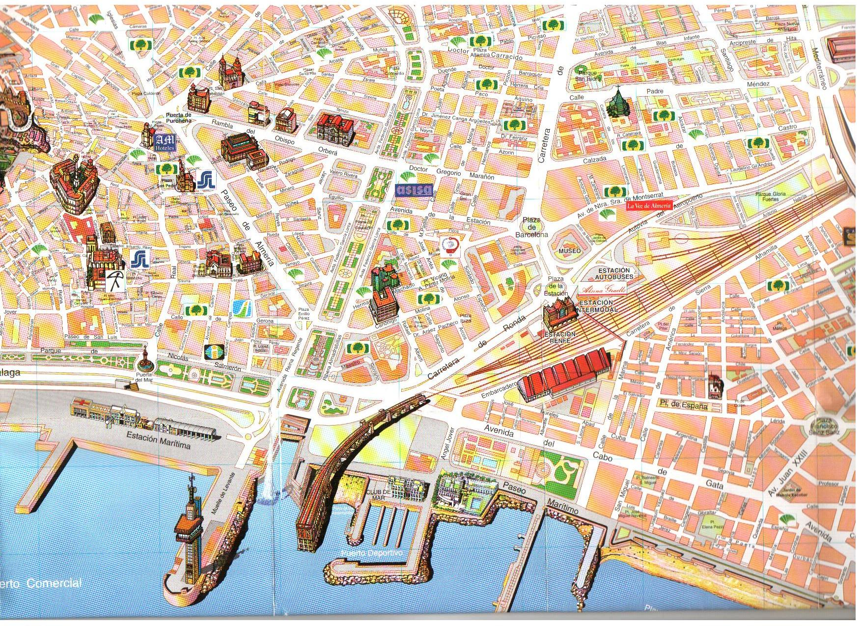 Mapa de de Almería