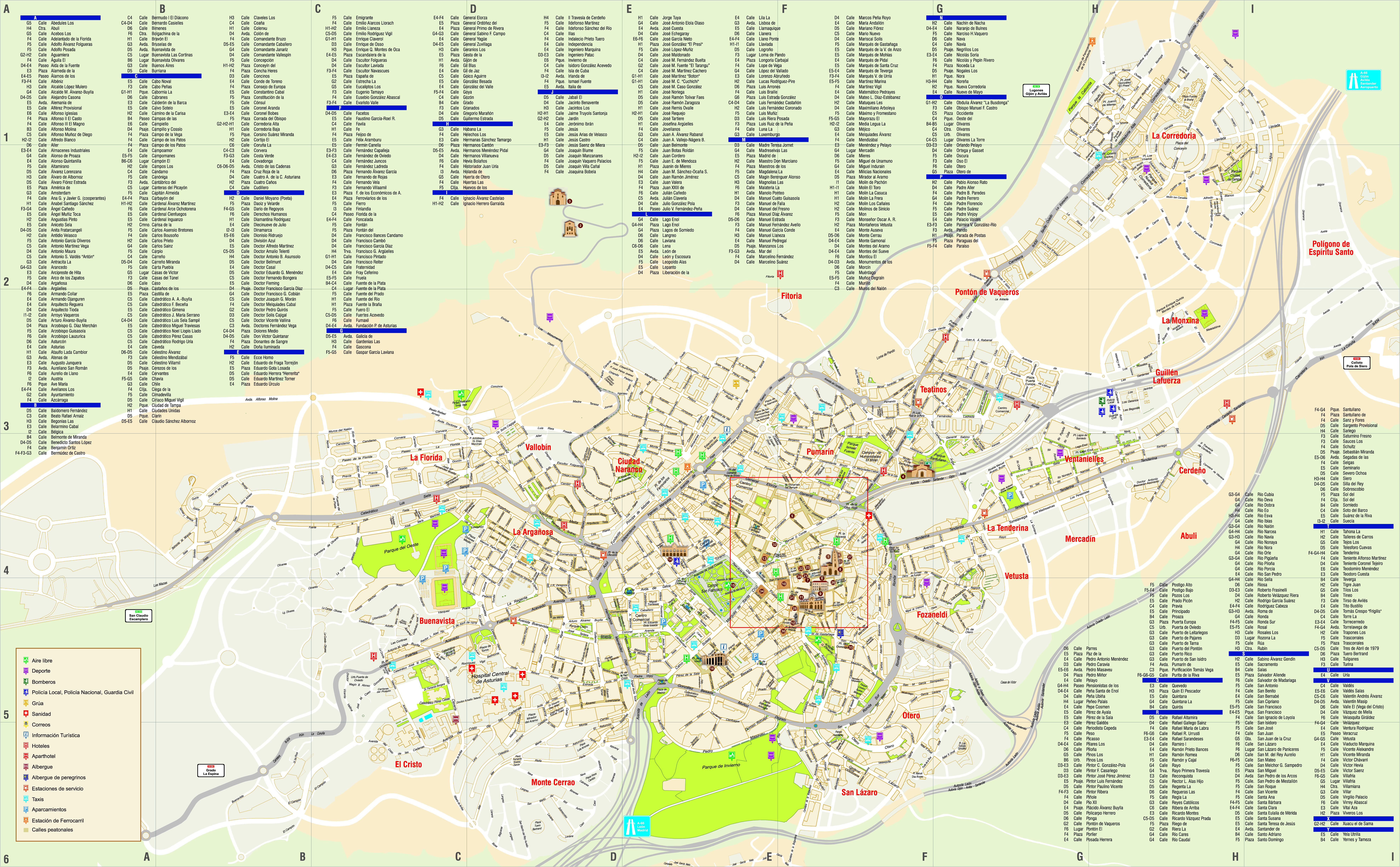 Oviedo map