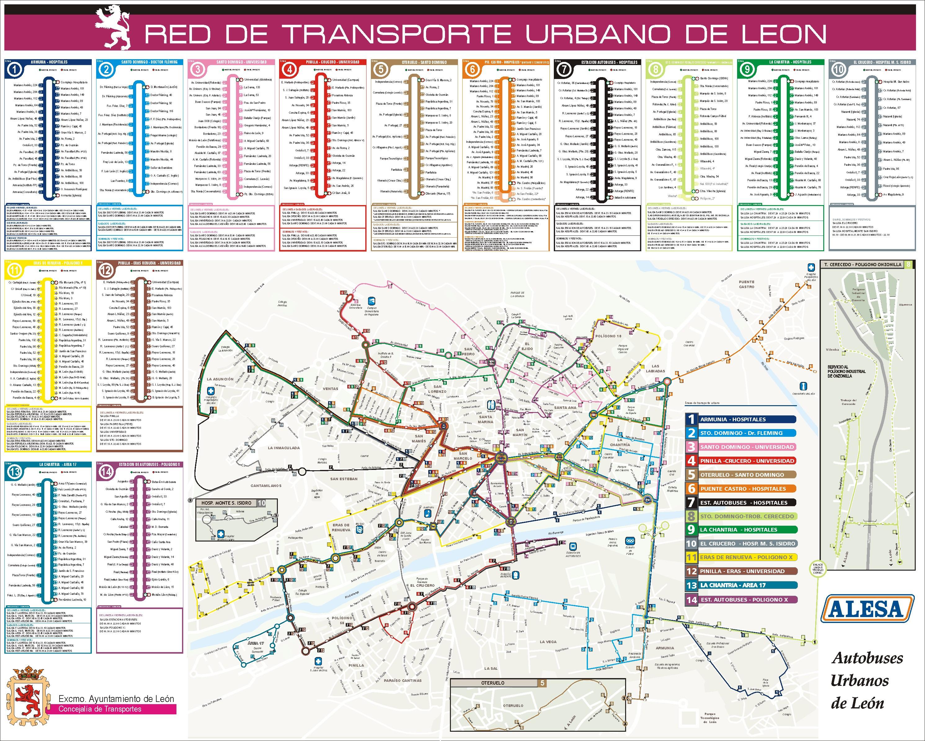 Red de transporte urbano de León