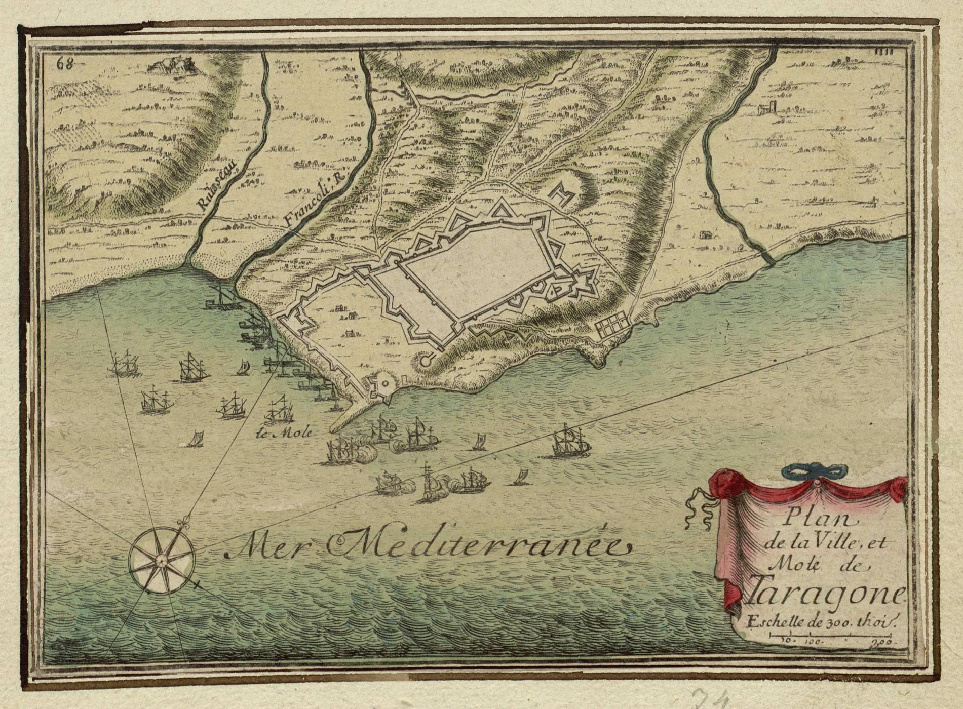 Plan de la Ville, et Molé de Taragone