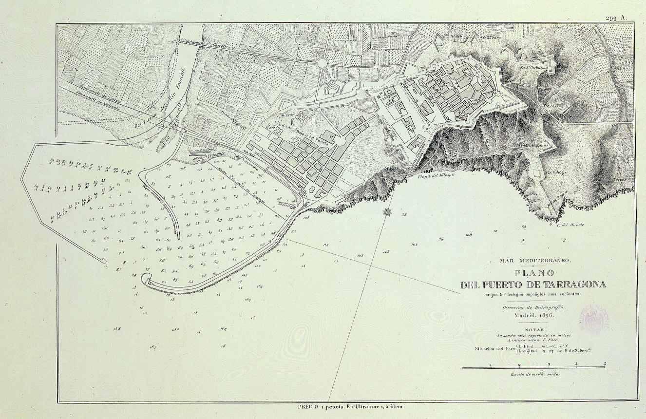 Plano del Puerto de Tarragona 1876