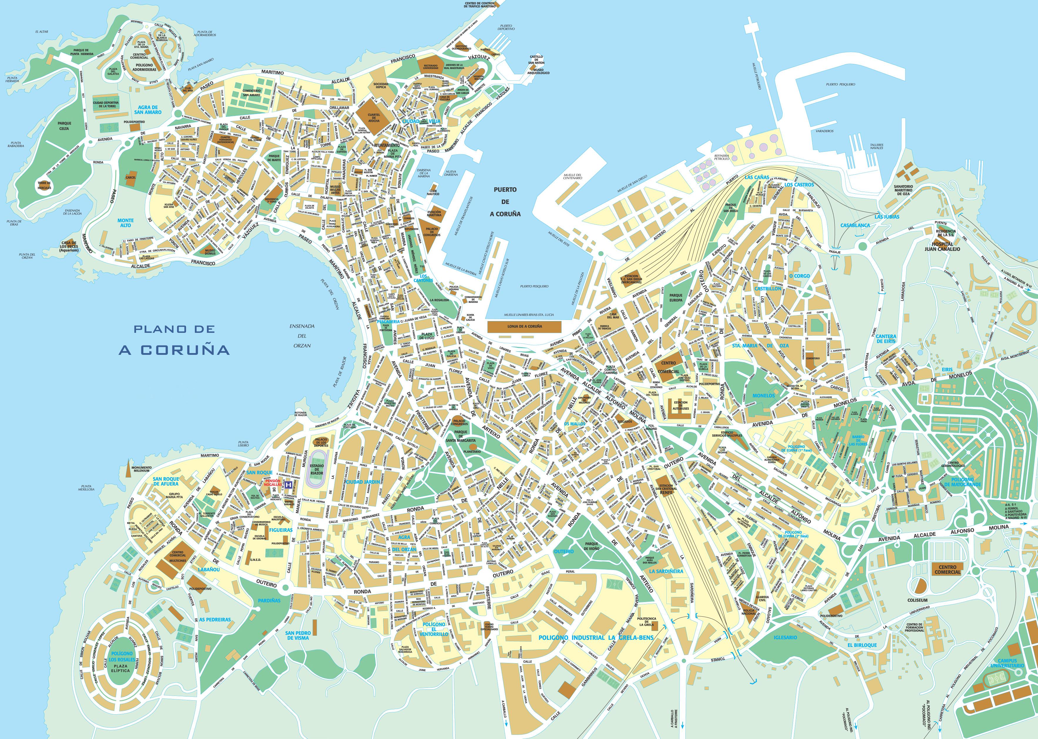 Mapa de La Coruña