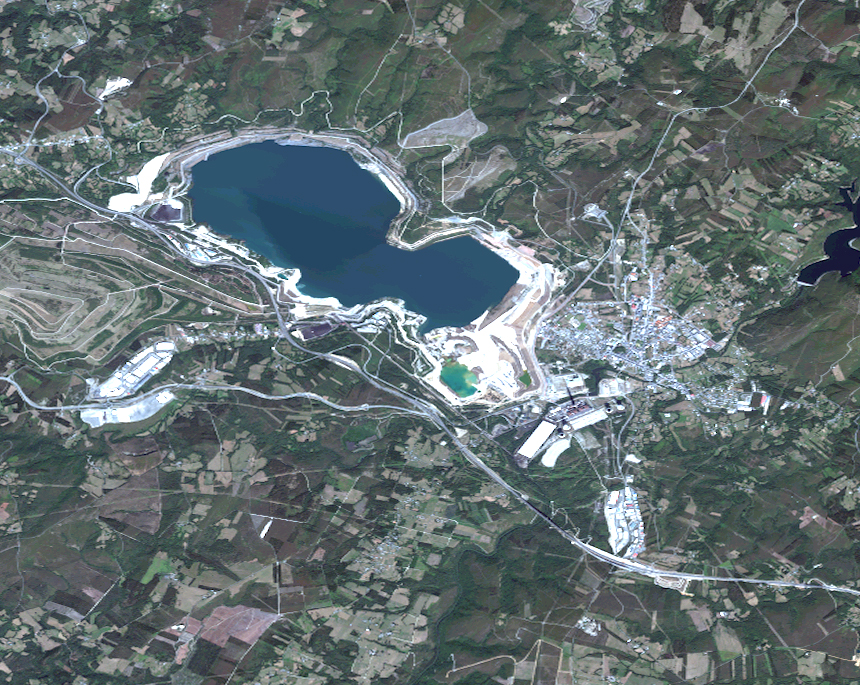 Satellite map of As Pontes de García Rodríguez