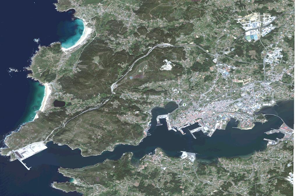 Mapa satelital de Ferrol