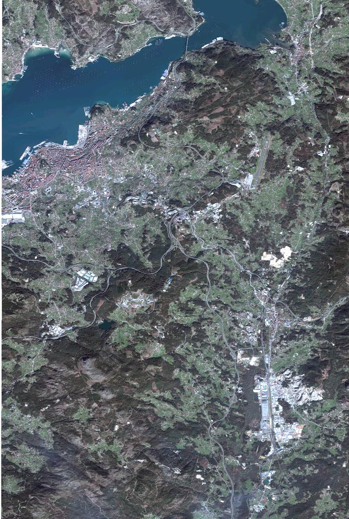 Mapa satelital de Vigo